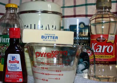 Butterscotch Ingredients