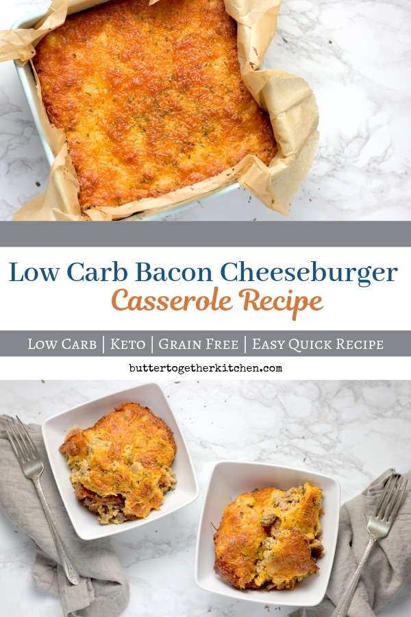 Easy Low Carb/Keto Bacon Cheeseburger Casserole - This recipe has been perfected and is one of the most satisfying keto casserole dish recipes you can make. This keto cheeseburger casserole is loved by all! #ketocasserole #cheeseburgercasserole #lowcarbcasserole #ketodinner #easyketorecipes | buttertogetherkitchen.com