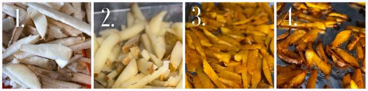 how to make seasoned jicama fries step by step