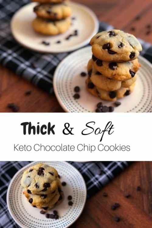 keto chocolate chip cookies long pin