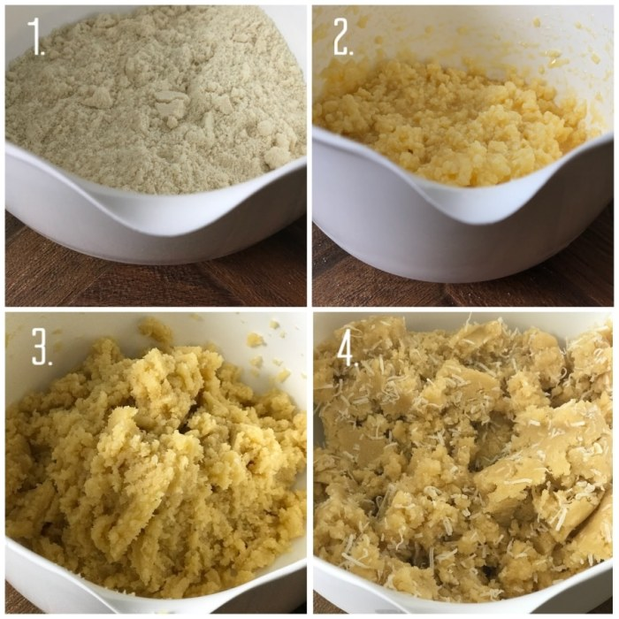 steps to making coconut cookie