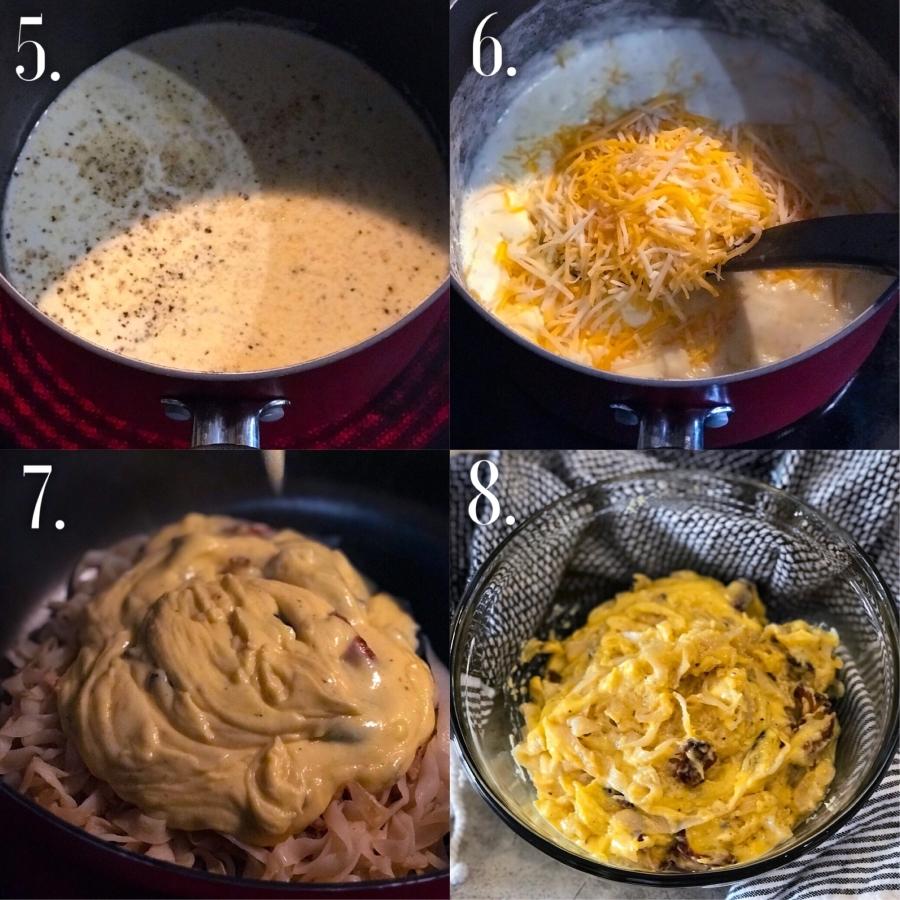 Steps to making keto mac and cheese