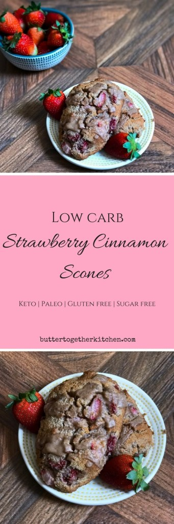 pinterest pin strawberry cinnamon scones