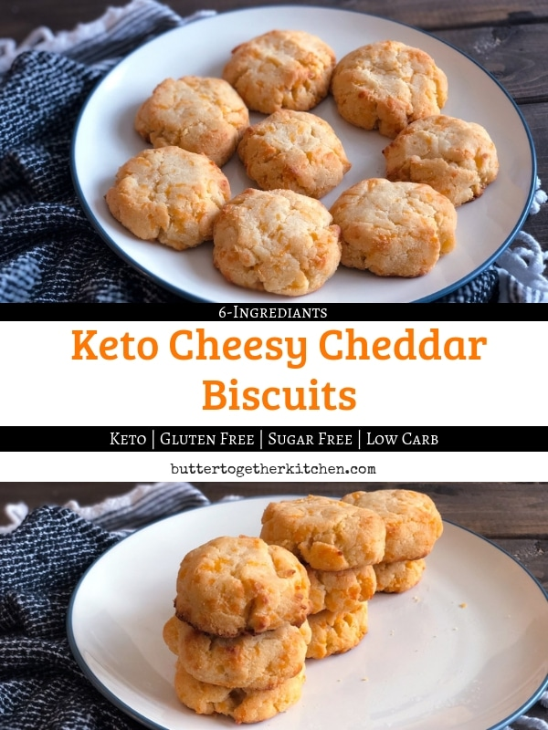 Keto Cheddar Biscuits #ketobiscuits #biscuits #ketobread #lowcarbbread #lowcarbbiscuits #ketocheddarbiscuits #cheddarbiscuits | buttertogetherkitchen.com
