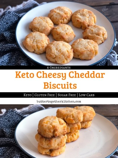 keto cheddar biscuits pin for pinterest