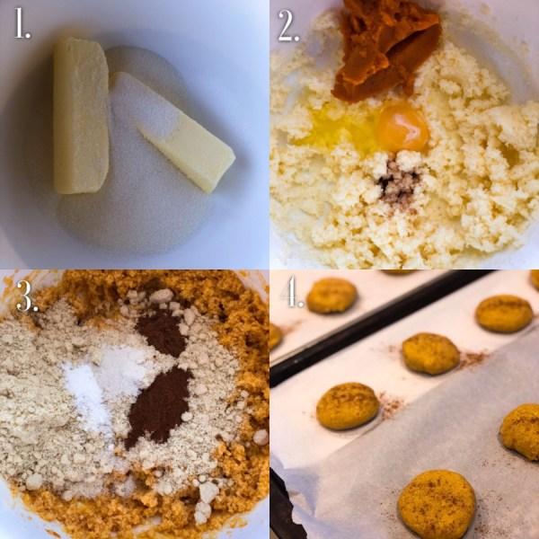 keto pumpkin cookies step by step