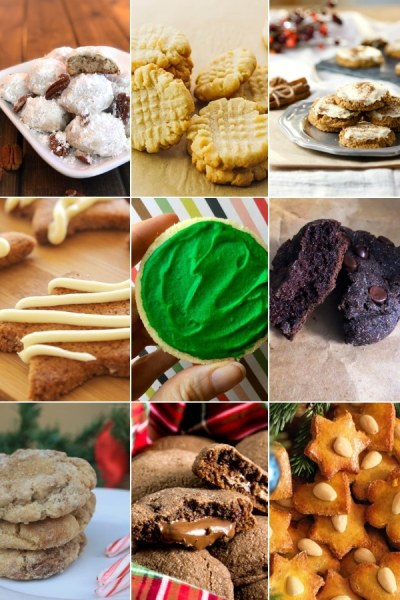 collage of keto cookies for the holidays