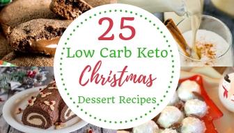 25 Low Carb Keto Christmas Dessert Recipes