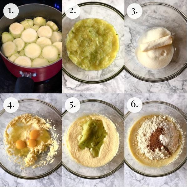 step by step photos how to make keto zucchini banana bread