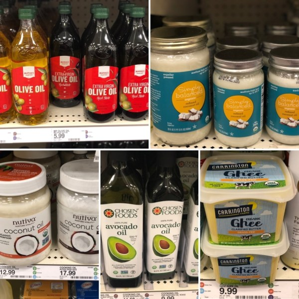 keto target cooking oil options