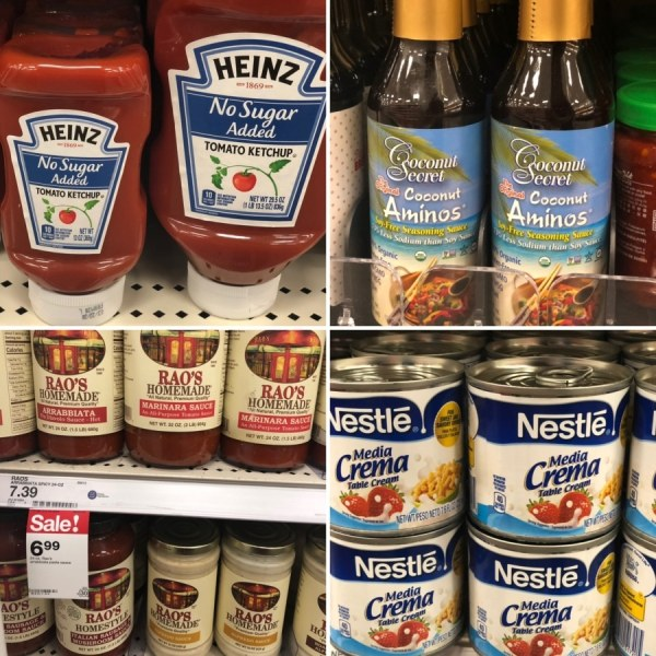 keto target condiments and sauce options