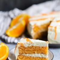 Low Carb Orange Creamsicle Cake