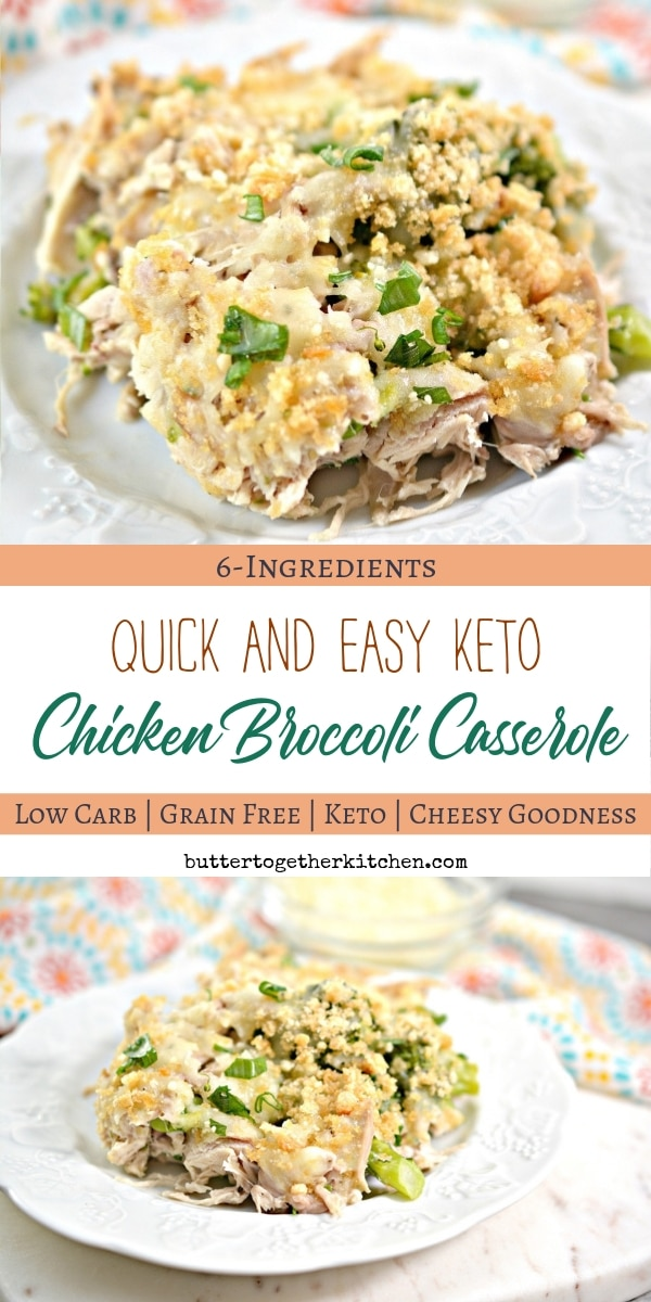 Keto Chicken Broccoli Casserole - This casserole is comforting, rich, and incredibly easy to make for a fast family meal! #ketocasserole #ketochickenbroccoli #ketodinner #quickketodinner #lowcarbcasserole | buttertogetherkitchen.com