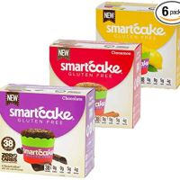 3 Boxes SMARTCAKE Bundle: 1x Chocolate 1x Lemon 1x Cinnamon: Gluten Free, Sugar Free, Low CARB, Keto Snack Cakes: 6X Twin Packs (12 Individual Cakes)