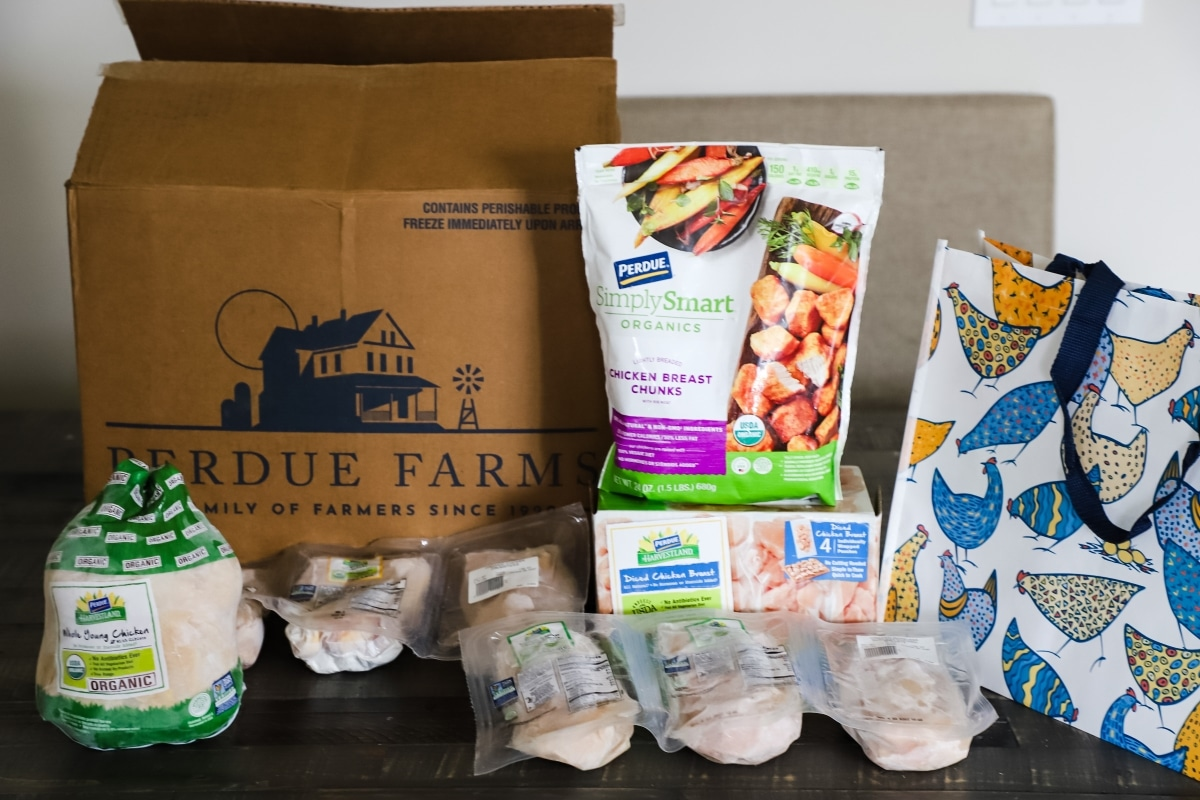 view of Perdue Farms organic chicken bundle