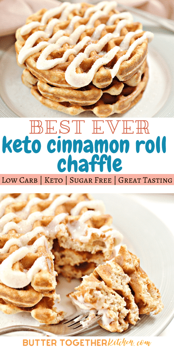 Enjoy the best easy and delicious Keto Cinnamon Roll Chaffle you can make! Easiest way to enjoy cinnamon rolls you loved so much! With a cinnamon sugar coating and the sweet icing, this chaffle recipe will become a favorite. #ketocinnamonrollchaffle #ketochaffle #ketodessertchaffle #ketocinnamonroll #chaffles