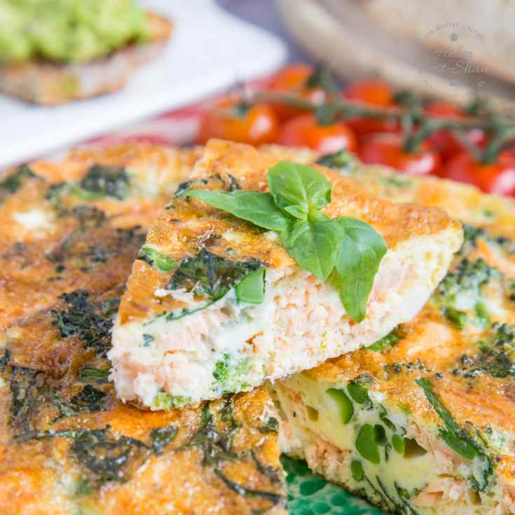 Tenderstem Broccoli & Salmon Frittata - Low Carb and Keto!