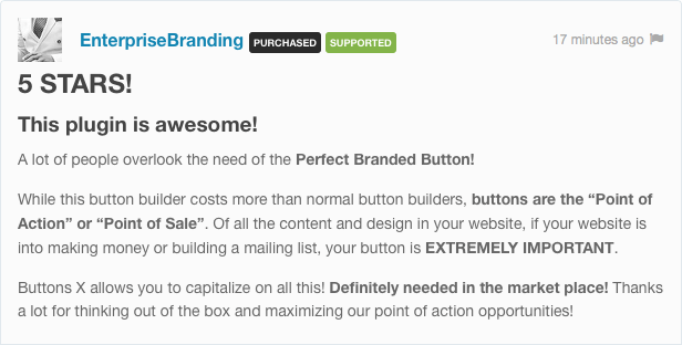 Buttons X - Powerful Button Builder for WordPress 1
