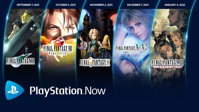 PlayStation Now Adding 5 Final Fantasy Games - From Now Through January 2022