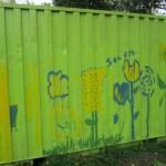Beschilderde container 1