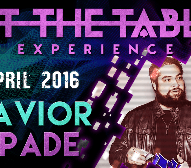 At the Table Live Lecture Xavier Spade April 6th 2016