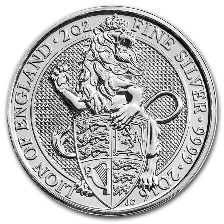 1st silver coin of the Queen's Beasts coin series