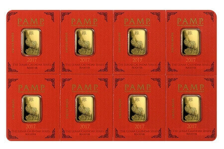 the Multigram divisible gold bars that PAMP Suisse produces are also available with Chinese lunar designs