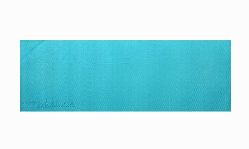 blue PVC yoga mat