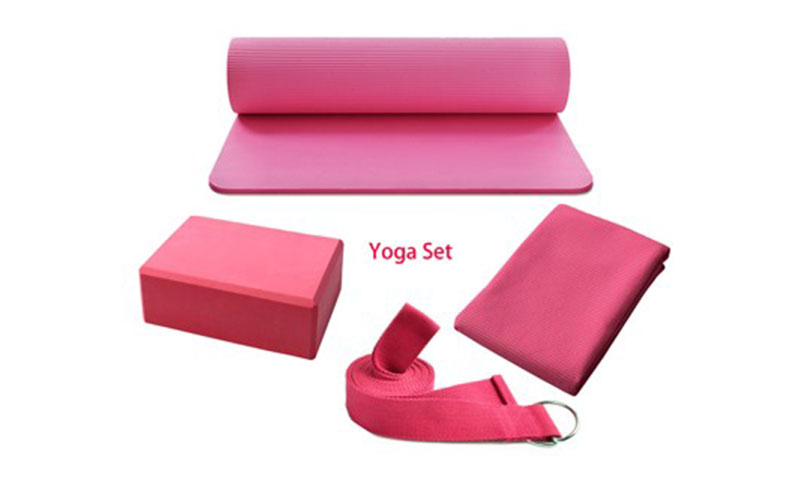 pink yoga products set