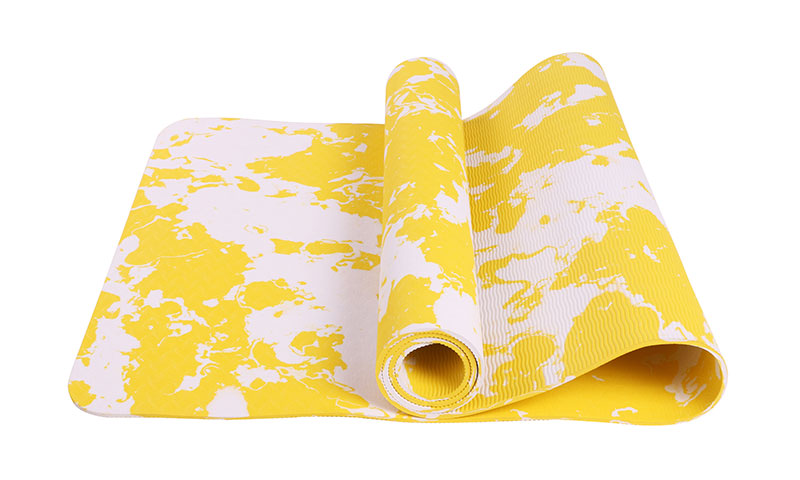 yellow camouflage TPE yoga mat
