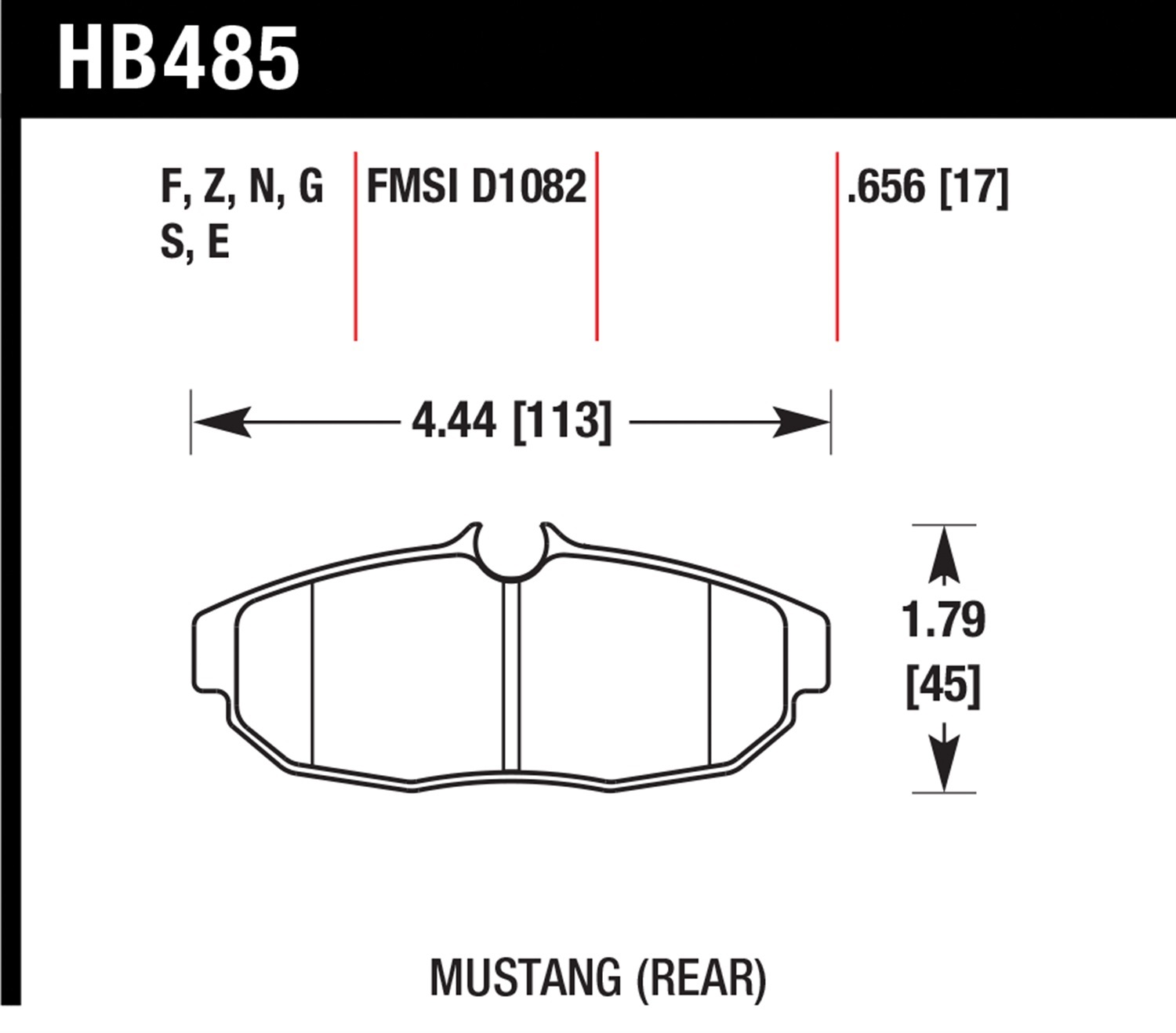 Ford Mustang Base Brake Pads