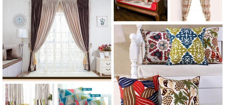 Интерьерные подушки и шторы Taobao 29.07
