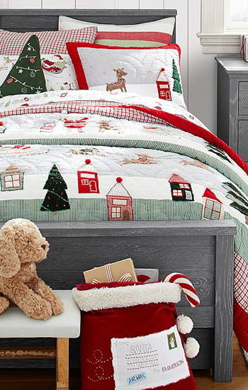 North Pole Quilted Bedding
