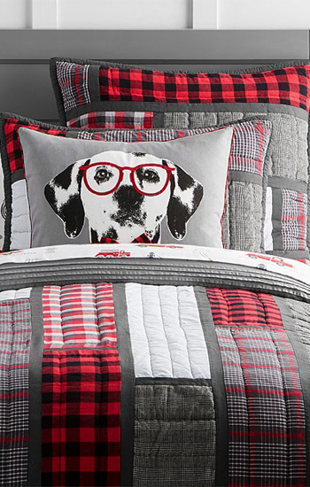 Plaid Patchwork Quilted Bedding