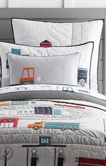 Things That Go Quilted Boys Bedding