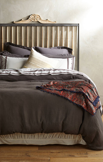 Anthropologie Soft Washed Linen Duvet