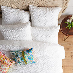 Textured Chevron Boho Bedding