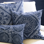 Coastal Decorating Ideas | Camille Medallion Pillow