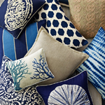 Herringbone Coastal Decor Pillows