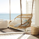 Hanging Rattan Bench | Coastal Style