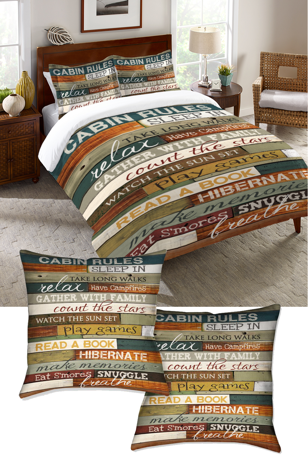 Cabin Rules Bedding