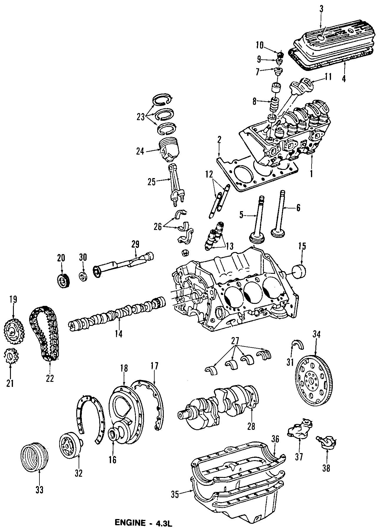Chevrolet R Suburban Engine Rocker Arm Engine Rocker