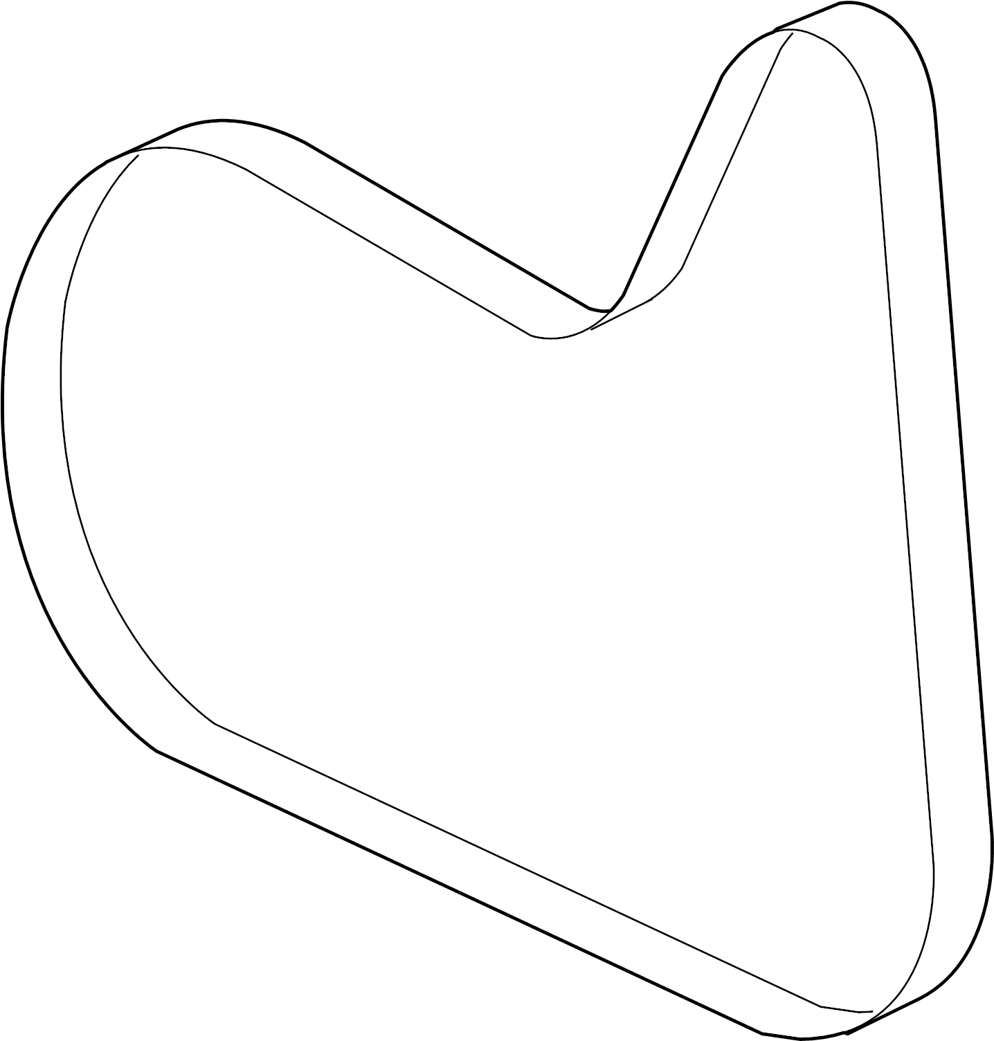 Saturn Aura Serpentine Belt