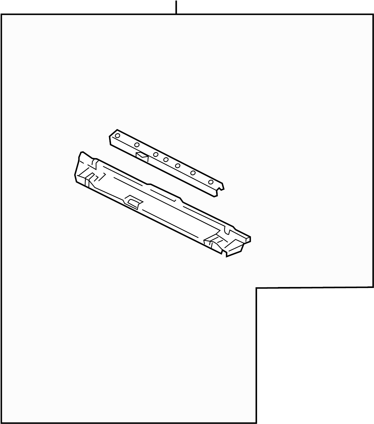 Saturn Relay Radiator Support Panel Front