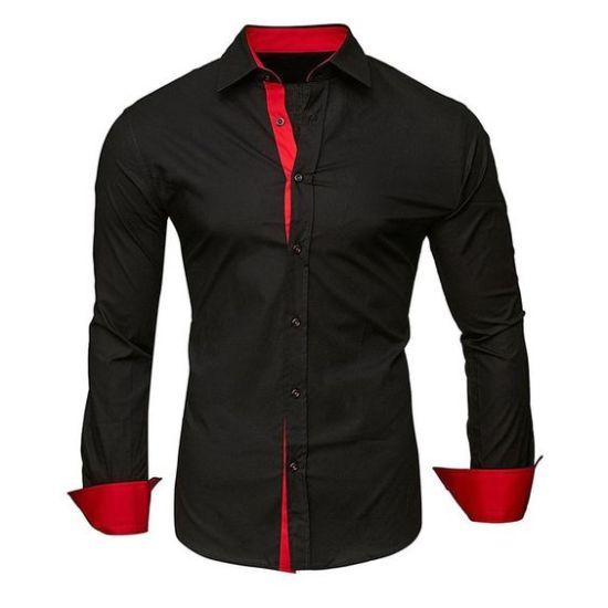 medusa men's long sleeve shirt Black