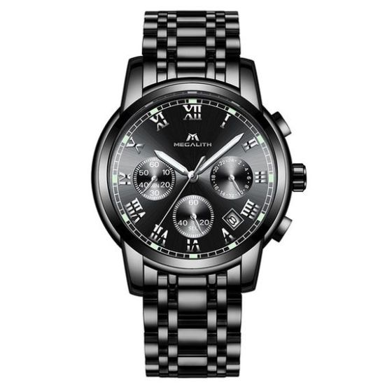 megalith watch steel analog quartz megalith watches