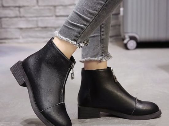 Leather chelsea boots black, ankle boots