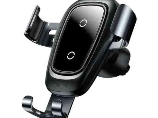 baseus car wireless charger black
