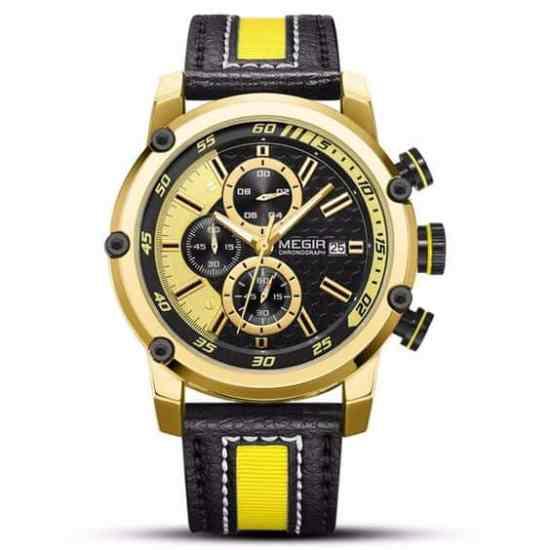 megir 2079 leather watche
