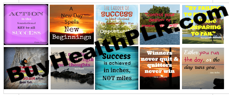 PLR graphics for Facebook - Motivational PLR